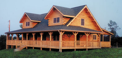 Moore log homes plan build and live your dream for Extravagant log homes